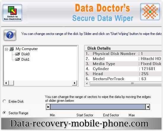 Hard Disk Wiping Software screenshot