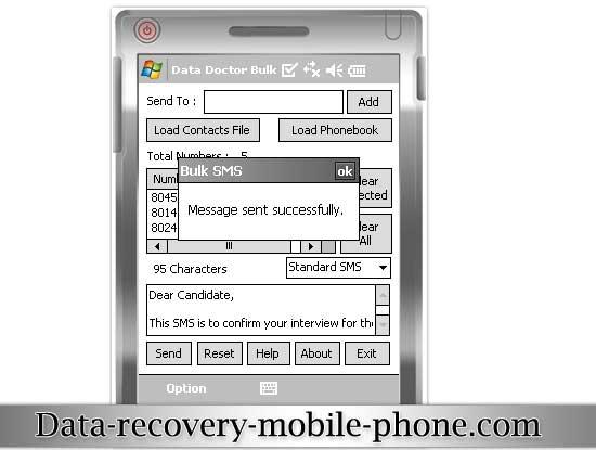 Pocket PC Bulk SMS Software