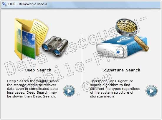 Removable Disk Data Undelete Utility screen shot